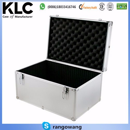 custom-made Aluminum Hard Case Silver DJ Tool Box with Internal Divider