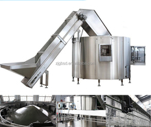 Automatic plastic water bottle unscrambler machinery for mineral water plant