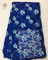 LI615128- (1) nigeria Brand new type Top grade rioyal blue tulle net lace fabric