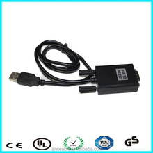 Black db9 serial rs232 adapter cable to usb