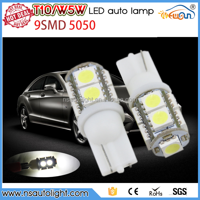 Super Bright 6V 12V 24V T10 194 9SMD 5050 LED For Car Auto Turn Light Bulbs Lamps