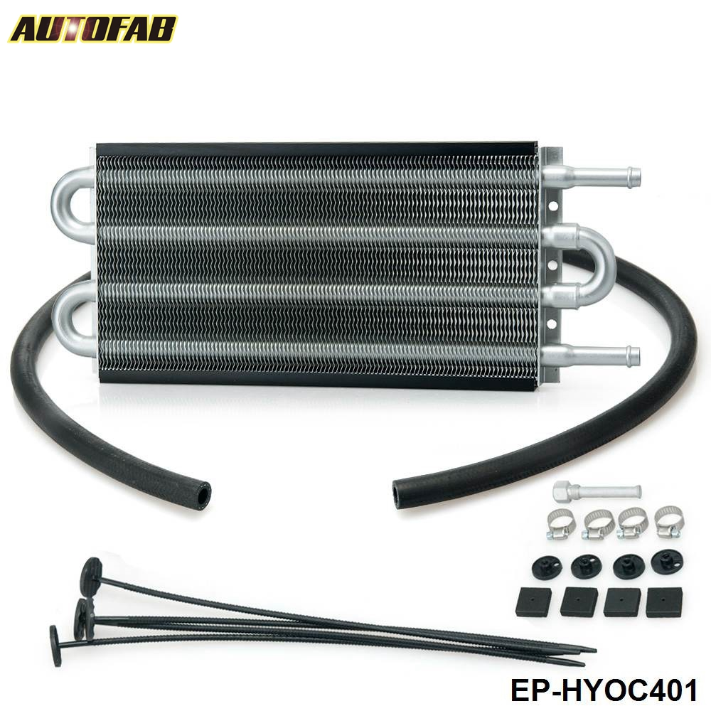 EPMAN -Universal 4 Row Aluminum Remote Transmission Oil Cooler Auto-Manual Radiator Kit 401 OC-1401 2,500 lbs EP-HYOC401