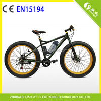 2014 new 26*4.0 inch fat tire beach snow elektro mountain bike made in china