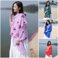Fashionable Scarf Muslim Embroidery Women Scarf