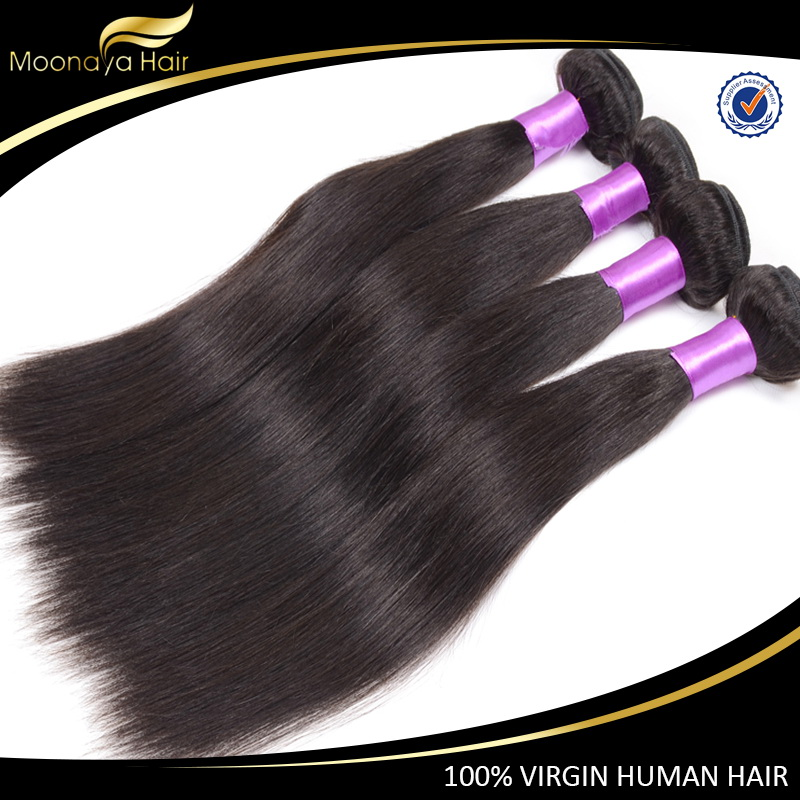 2016 most popular natural color dyeable mongolian straight hair