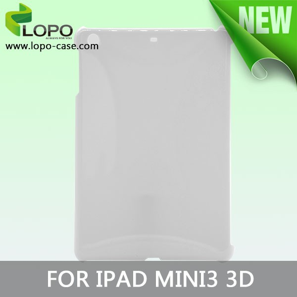 Polymer material 3D case for ipad mini 3 sublimation cover case