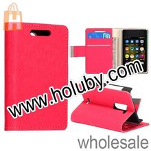 Cute Mini Style Maze Pattern Stand Magnetic Leather Case for NOKIA Asha 502 With Card Holder