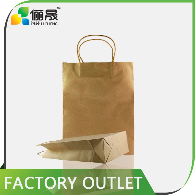 microwave food packaging kraft paper shopping bag