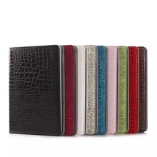 Crocodile skin flip PU leather case for ipad air 2 / for ipad 6