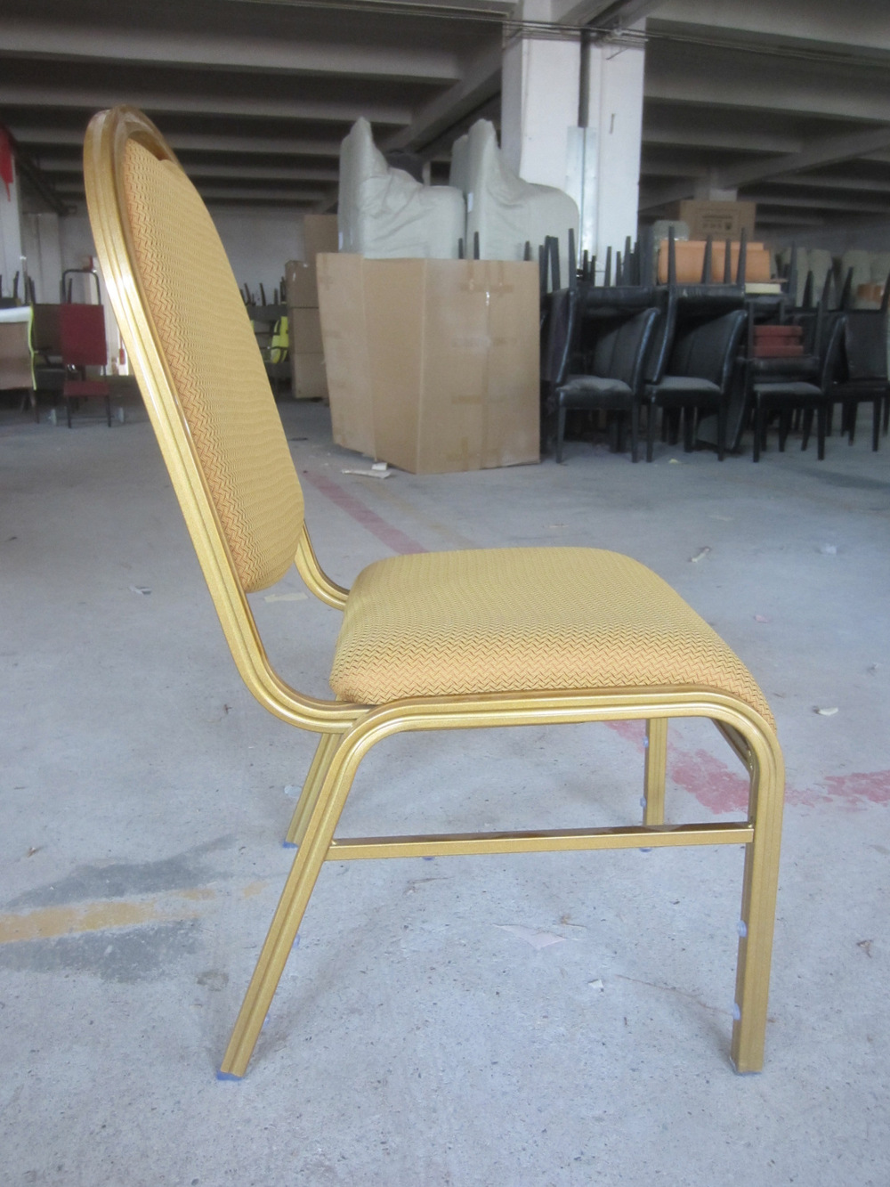 Comfortable stacking banquet hall chair with waterfall for Comfy chairs for sale