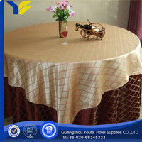 woven chinese tree peony embroidery table cloth