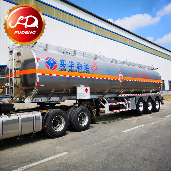 Aluminum Alloy 3 <strong>Axle</strong> 12 <strong>Wheel</strong> 45000 Liters Fuel Transportation Tanker Trailer