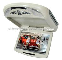 10.1 Inch LED Backlight Digital Panel Roof Mount Monitor with DVD Player/USB/SD card