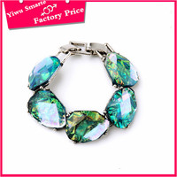 Innovation 2016 indian fashion jewelry Young ladies party wear nice blue resin beads for chains link bracelet free sample