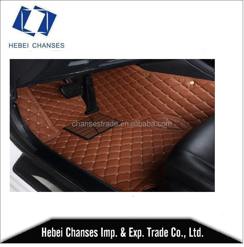 non skid 5D joint leather all wether car mat