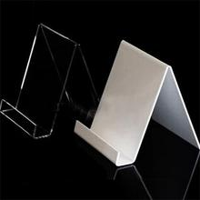 Transparent Acrylic Cell Phone Display Holder Lucite Brochure Holder Shop Display Stand