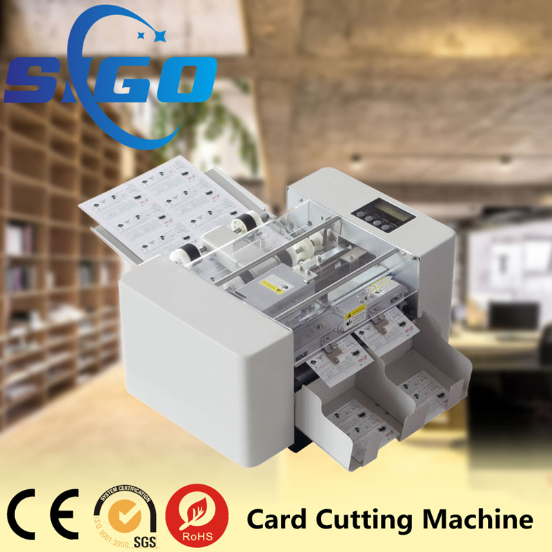 Zhejiang SIGO automatic card cutter machine a4