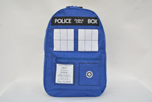 Wholesale Fashion hot selling printed tardis cartoon student school bag work bags police box backpacks doctor who school bags