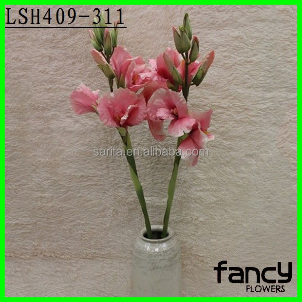 wholesale fabric artificial single stem canna flower