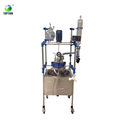 Power-saving Single Layer Glass 50l Chemical Reactor For Lab Research