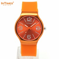 InTimes Ladies Bracelet Wrist Watch Aluminum Case 41mm Silicone Band 22mm Quartz Analog 5ATM IT-088 Retail Wholesale OEM