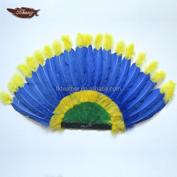 Colorful Indian Feather Headdress With Turkey Feather