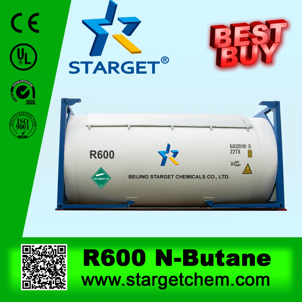 Pure Gas Butane R600(small can/Iso Tank/cylinder)