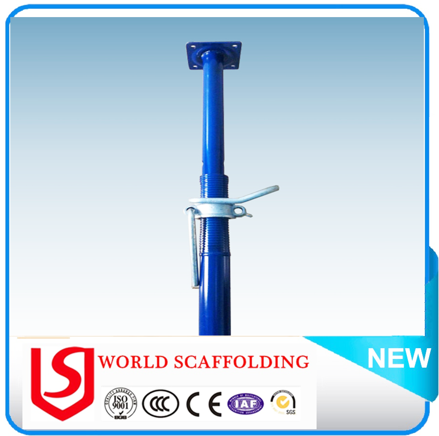 48-60mm Painted Construction Scaffolding Steel Telescopic Pole