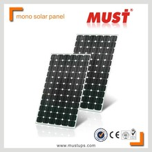MUST High efficiency factory Flexible monocrystalline solar pv module 100wp