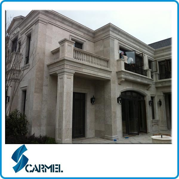 Hot sale grey exterior limestone wall cladding
