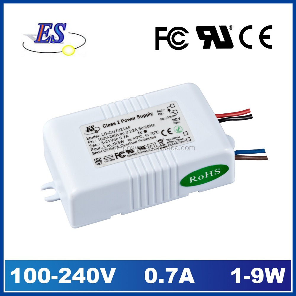 690mA 21V 9W 240VAC-DC Constant Current LED Driver, led power supply