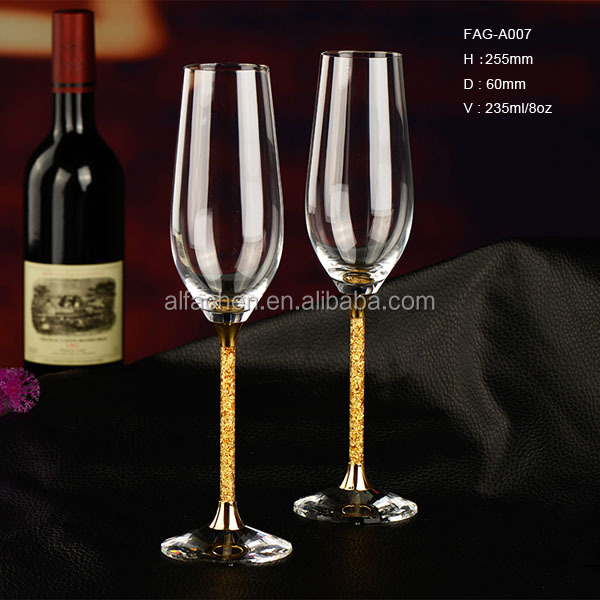 Thank You Gift for Wedding Guests Glass Crystal Champagne