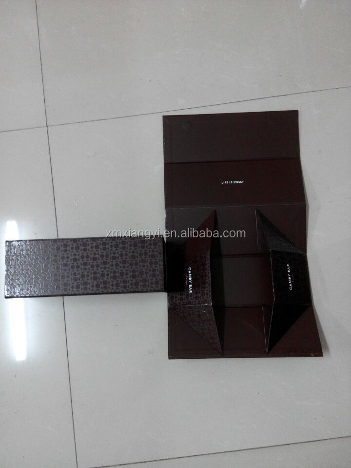 flat pack chocolate paper box with magnet