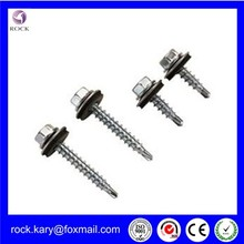 Best quality DIN 7504 hex washer head self drilling screw self drilling screw