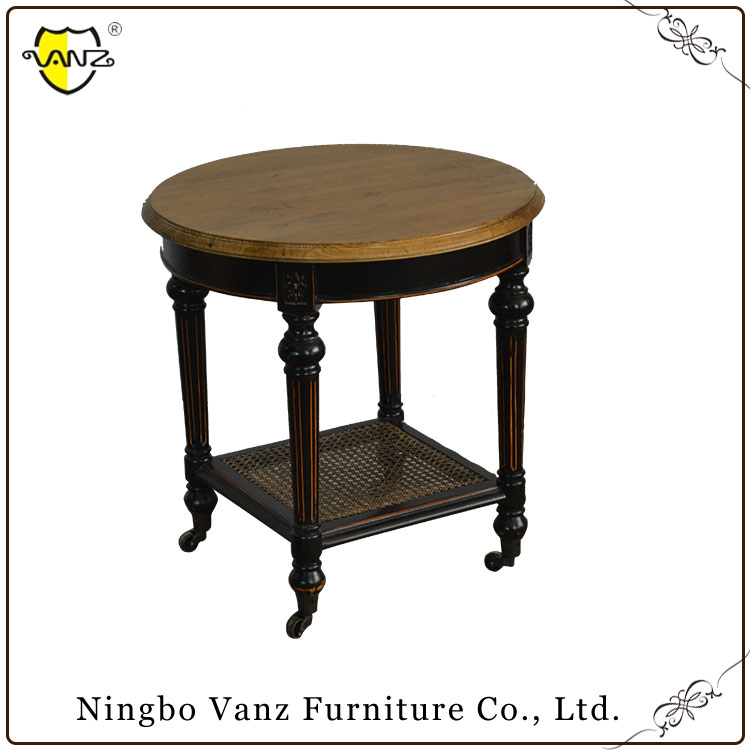 TLW16311 unique design hot sale worth buying black Wood Round Side table
