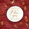 Wood Valentine Gift Love Fridge Magnet