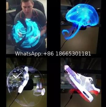 2017 trending products hologram 3d led fan display in air