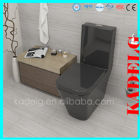 Floor standing porcelain one piece water closet movable toilet