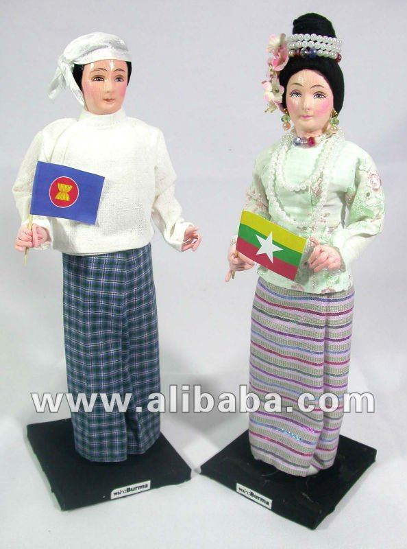Burma Dolls in Traditional Costume