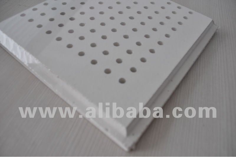 Perforated pvc gypsum ceiling tiles(also have paint surface pvc gypsum ceiling tiles)