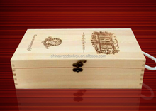 Custom size and logo wooden box packaging for wine
