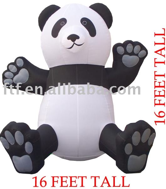 2013 hot sale Giant inflatable panda cartoon characters