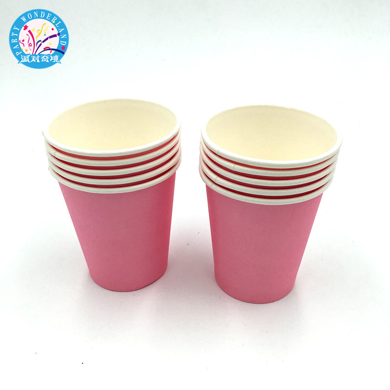Pink Single Color Paper Cup Bachelorette Hen Night Party Supplies Drink Cup