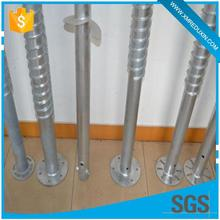 Ground screw piles foundations fence post metal ground anchor for garden fence