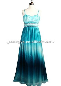 Lady dress chiffon evening dress