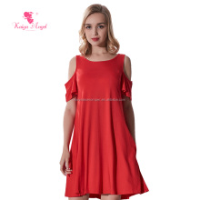 latest new fashion lady clothing solid color short sleeve wholesale boutique western women's dressy clothes