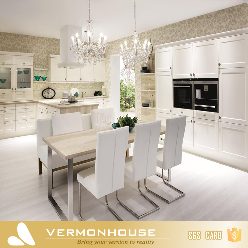 Vermont Customized Classical White Shaker Wood Kitchen Cabinet