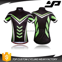 Wholesale sublimation printing quick dry cycling jersey blank custom uv protection cycling garment for men