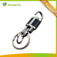2014 Cheap Custom Zinc Alloy High Quality Leather Key Chain Wholesales