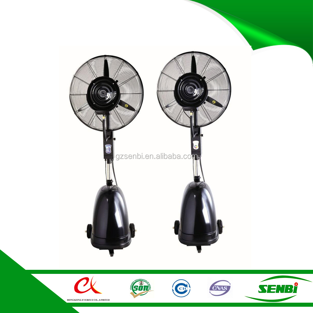 30 inch industrial modern electric adjust high stand water spray mist tank fan specification